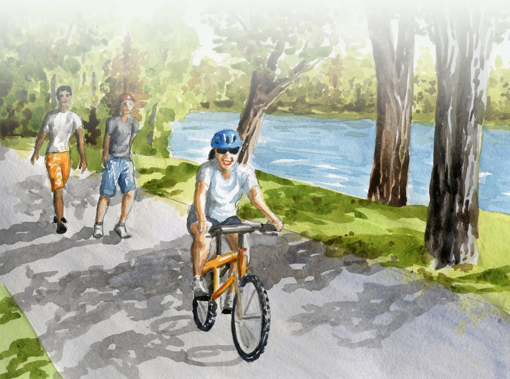 watercolor trail painting